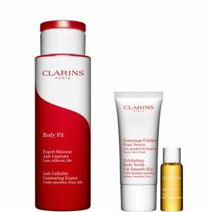 """Clarins Coffret Objectif Silhouette Parfaite - Body Fit, gommage exfoliant et huile """"Tonic"""""""