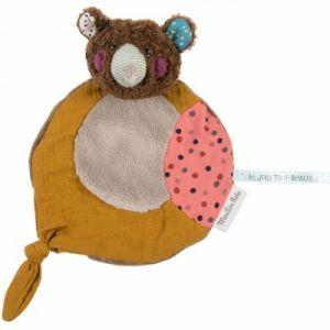 Moulin roty Doudou plat ours brun Les jolis trop beaux (27 cm)