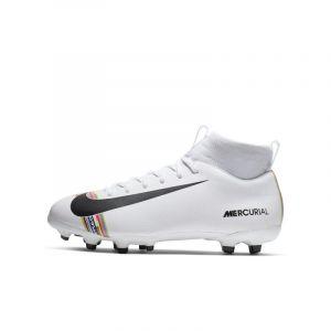 Nike Chaussure de footballà crampons multi-terrains Jr. Superfly 6 Academy LVL UP MG pour Jeune enfant/Enfant plus âgé - Blanc - Taille 38.5 - Unisex
