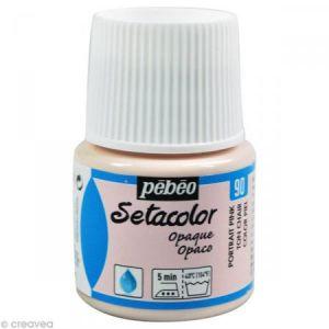 Pebeo Peinture tissu Setacolor - Opaque - Ton Chair - 45 ml