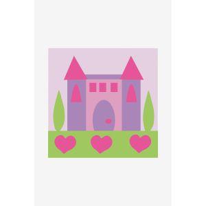 Dmc Kit de tapisserie enfant XXL - Le château princesse - 15 x 15 cm