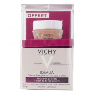Vichy Idéalia - Crème énergisante - lissage & éclat peaux sèches + masque peeling