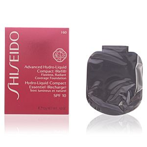 Shiseido Hydro-Liquid Compact Essentiel (recharge) I60 Deep Ivory - Teint lumineux et naturel SPF 10