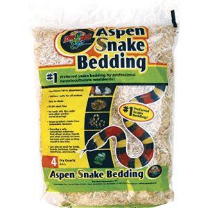Zoo Med Aspen Snake Bedding Substrat pour Reptile/Amphibien 4,4 L
