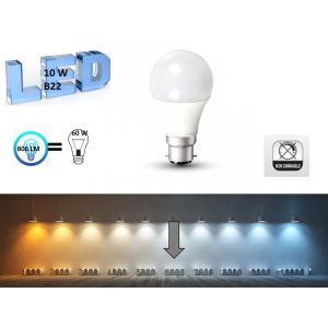 V-TAC 2 Ampoules forme Bulbe LED B22 10W (équivalent 60W)