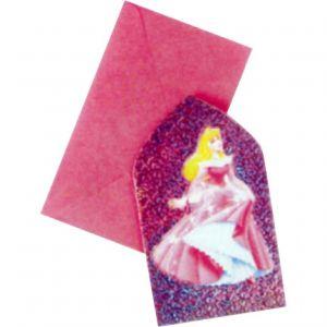 6 cartes d'invitations avec enveloppes (100 x 150 mm)
