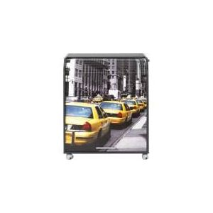 Meuble informatique à rideau coulissant Taxi (93,6 cm)