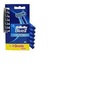 Gillette Blue II Plus - 6 rasoirs jetables pour homme
