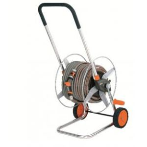 Gardena 60 TS Premium - Dévidoir métal sur roues équipé avec tuyau 25 m
