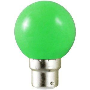 Vision-El Ampoule LED B22 Vert 1W -