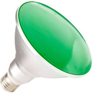 Ledkia France Ampoule LED E27 PAR38 15W Waterproof IP65 Lumière Verte Vert