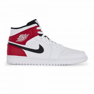Nike Chaussure Air Jordan 1 Mid - Homme - Blanc - Taille 46 - Male