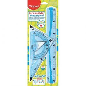 Maped Kit de traçage géometrie 4 pièces en platique incassable