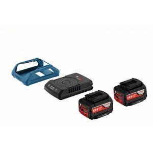 Bosch Pack 2 batteries à induction GBA 18V 4,0Ah MW-C + GAL 1830 W -