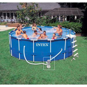Intex Piscine tubulaire ronde avec accessoires Frame - Diam. 457 x H. 122 cm