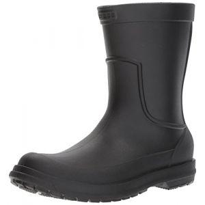Crocs AllCast Rain Boot Men, Bottes de Pluie, Noir (Black/Black), 45-46 EU