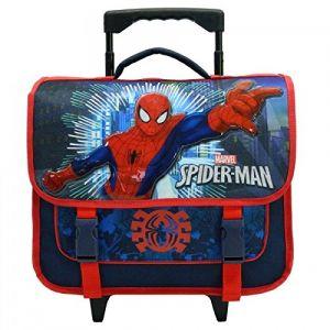 Cartable à roulettes Spider-Man Power 38 cm CP/CE1 Bleu