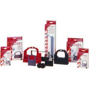 Kores G001NYSR - Ruban compatible, Gr.1, DIN DS, nylon, 13mm x 10m, noir/rouge