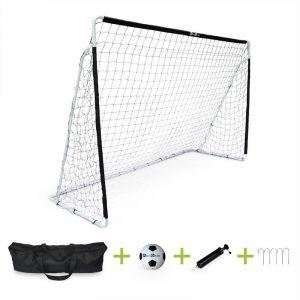 Alice's Garden Cage De Football Eden Taille L En Acier 300 X 200 Cm, But De Foot Avec Ballon, Pompe Et Sac De Rangement