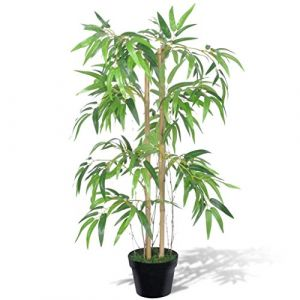 "VidaXL Bambou artificiel """"Twiggy"""" avec pot 90 cm"""