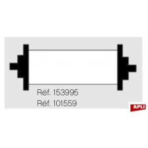 APLI 101559 - Blister de 1 rouleau encreur noir pour pince 101419