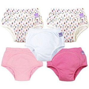 Bambino Mio 5 culottes d'apprentissage réutilisables pour fille taille 2-3 ans