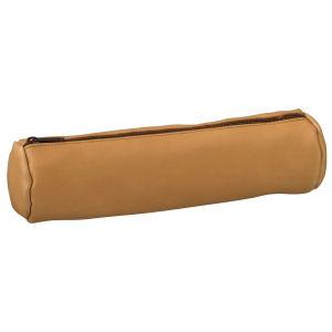 Elba Fourre tout naturel rond en cuir 6x21.5cm