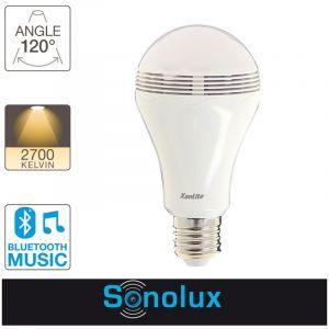 Xanlite Ampoule LED SONOLUX, cuLot E27, 6,8W cons. (28W eq.), haut parleur bluetooth
