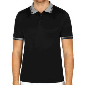 Wilson Homme Polo de Tennis, M TEAM POLO, Polyester, Noir, Taille S, WRA765402