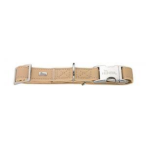 Hunter Collier cuir - Chien Mixte - Fauve - 2.5 x 40-55cm