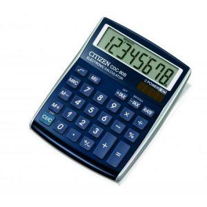 Citizen 72482-37 - Calculatrice de table, petit format CDC-80BLWB, coloris bleu