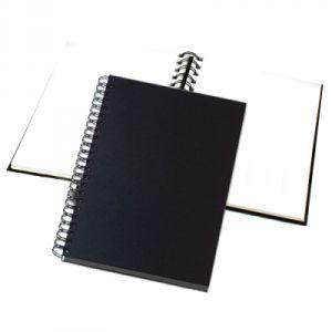 Noir /à spirale A4-80 Feuilles 140g Cahier pour dessin et croquis Format portrait