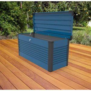 Trimetals Coffre de Rangement Design en Métal 1.06 mètres carrés PatioBox - Coloris Blue