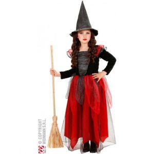 Widmann Déguisement sorcière rouge Halloween enfant