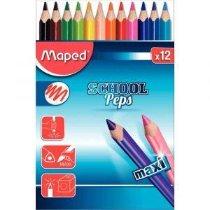 Maped Crayons de couleur gros module - Pochette de 12