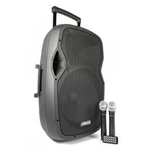 """Vonyx Vexus AP1500PA Baffle pour Ordinateur Portable 15""""/mains 2 micros sans fil USB/bluetooth"""