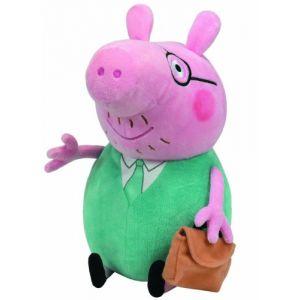 Ty Grande peluche Peppa Pig : Papa Pig