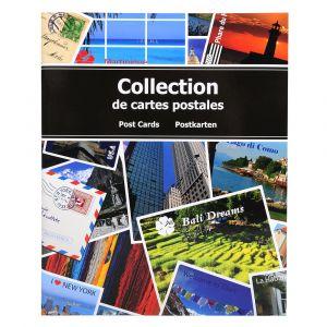 Exacompta 96115E - Album cartophilique 50 feuillets/200 cartes postales 11,5x16,5, couverture rigide