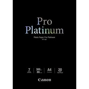 Canon 2768B016 - 20 feuilles papier photo Platinum 300g/m² (A4)