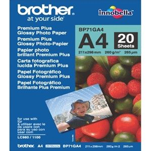 Brother 20 feuilles de papier photo Preminium Plus 260g/m² (A4)
