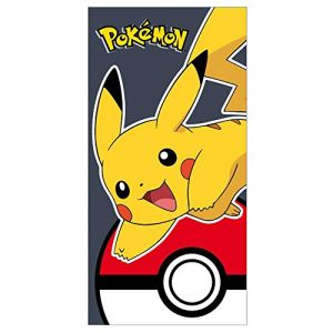 Serviette de bain Pikachu & Pokeball Pokemon (140 x 70 cm)