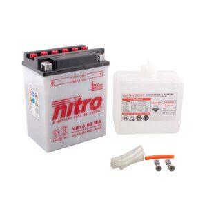 Nitro Batterie YB14-B2 ouvert avec pack acide Type Acide