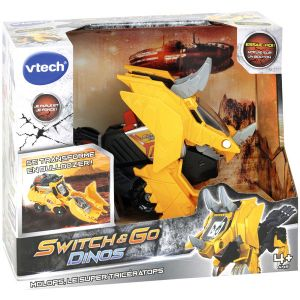 Vtech Switch & Go Dino - Molops, Super Tricératops pelleteuse