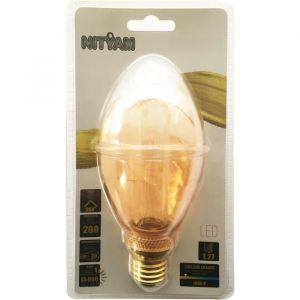 Ampoules LED E27 B75 Déco Nouvelle Génération - 4 W équivalence 20 W - Blanc chaud
