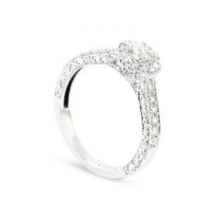 Rêve de diamants 3612030074967 - Bague en or blanc sertie de diamants