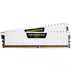 Corsair CMK32GX4M2A2666C16W - Barrette mémoire Vengeance LPX 32 Go (2x 16 Go) DDR4 2666 MHz CL16