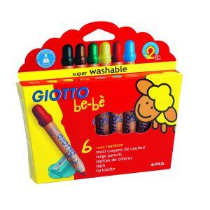 Giotto 6 Maxi crayons de couleur be-bè