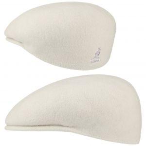 Kangol Bonnet Wool 504 - Mixte - Blanc - Large