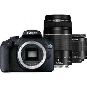 Canon EOS 2000D (avec 2 objectifs 18-55 mm et 75-300mm)