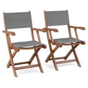 alice 39 s garden barcelona 2 fauteuils de jardin pliants en bois d 39 eucalyptus fsc comparer. Black Bedroom Furniture Sets. Home Design Ideas